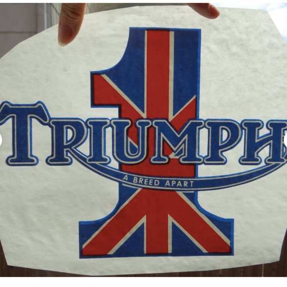 Triumph A Breed Apart Vintage Iron-On Transfer